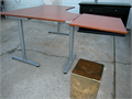 3 legged Office table 63 X 47 and 63 X 71 with extension installed Height adjusts from 235 to