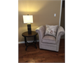 Model Home Furniture Plush High back chair by Coaster Furniture comes with Paris theme pillow