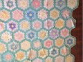 Antique quilt measuring at 935x835 with Grandmothers Flower Garden pattern Size is right for