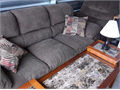Sofa and Recliner - Brown with throw cushions included Like new condition Used very little Evans