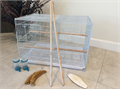 Brand new never been used breeding Bird cage BundleIncludes 4 cups 2 perches wire divider bo