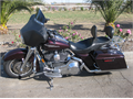 2006 FLHX Harley-Davidson Street Glide Color-Black Cherry chromed out great stereo system with CD