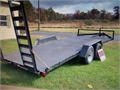 Car trailer Special construction 10k GVW 21FT Car trailer with Electric breaks and attached ramps t