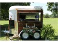 Mobile vintage horse trailer Use for weddings parties vendors etc 4 new tires serving windows