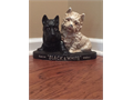 Cast Iron Scotch Black  White Whisky Dogs Door Stopper-Vintage 1950s Approximate measurements