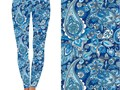Attractive Wide Waistband Blue Paisley Leggings 92 Polyester 8 Spandex are available for 15 e