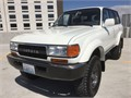 1993 Toyota Land Cruiser FZJ80 in very desirable super white exterior with gray leather interior 2