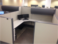 Used Haworth Premise cubicles workstationsSize at 8x8x53Hx67HEach station has one flipper d
