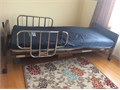 Fully operational electric medical bed with mattress and mattress cover
