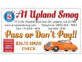 A1 Upland Smog Regular  Star Certified Test only Smog station 1710 W Foothill Blvd Unit D5