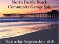 Please join us for the North Pacific Beach MEGA Community Garage Sale September 18th at 8am25