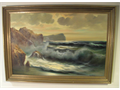 Large 35 12 W X 24 12 H artwork in highest quality Thanheart Berger frame worth more than this