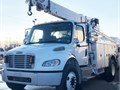 Cat C7 59 K Miles Auto 6 Spd AC Air Brakes 33 K GVWR ALtec DL42TR Utility Body 8 Ft Jib