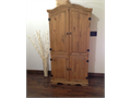 Armoire is 61 H 31 W 2DHinges for the cabinet doors are of the Old World style  Could b