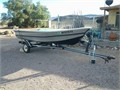 17 Ft Aluminum Boat in good condition 15 HP motor new tires extras pink licensed 2015 18000