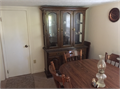 For Sale Dining  room table and 6 chairs solid oak and china cabinet with interior lights Both l
