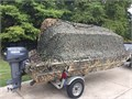15 ft Xpress duckboat with custom blind 25 Yamaha 2 stroke Camo wrap Clean 4200   706-373-0073