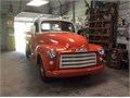 Original 1952 GMC with Wood Stake Bed Chev 235 CI Motor Original 4 Speed Transmission Color- Whi