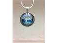 THIS IS A TREE OF LIFE PENDANT NECKLACE  COMES IN BLUE GREEN AND SILVER COLORS  VERY WELL MADE P