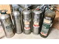 Five old fire extinguisherslocal pickup only no shipping