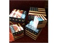 Rustic American flag and watermelon 5 nesting boxes In very good condition