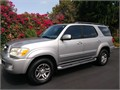 2005 Toyota Sequoia Limited Silver with Grey leather interior 2WD Automatic sun roof tow packag