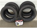 4 Toyo Ultra 900 Premium Tires 21555R17  set snow chains used once - 5971 miles on tires - re