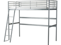 SVRTA Loft bed frame silver color Excellent Condition Pick up only Arcadia CA 7500 626-676-