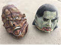 Two full-sized masks that would serve as excellent props for your Halloween display They are stiff