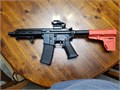 New custom built ar pistol 75 barrel 30rd mag holographic sight with laser and brace 650 obo
