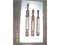 Three old fashioned bath thermometers wooden oak in very good condition OBO