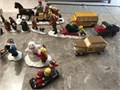 Dept 56 Snow Village Accessories21 beautifully crafted hand painted porcelain pieces Like new