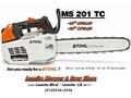 New STIHL MS201TC chain saws in stock - 14 - 70999  tax - 16 - 71999  tax - Lomita Mower  S