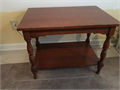 Antique end table original owner nonsmoking home cherry finish Dimensions are L-28 W-19 H-22