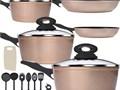Non-stick coating dishwasher safe no PFOA FDA holiday kitchen giftsCoupon code UGXEVJ6H 3