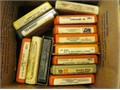 Box of 13 eight track tapes zeplinkingtaylor Chicago steppnwolf etc2500 OBO 2500 626-335-95