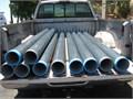Grey PVC Coated Hot Dip Rigid Metal Conduit 5 inside diameter 9-10 long threaded on both ends