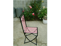 This is a unique exclusive piece All iron chair made to order and our design It is a folding chair