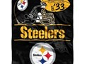 Steelers 50 x 60 fleece blanket  NEW  2000 Will ship