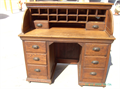 100 YEAR SOLID OLD OAK DESK I GREAT SHAPE LOCATED IN NORWALK CALIFORNIA  CONTACT mrglasscarsy