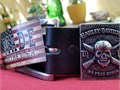Harley-Davidson No Free Ride Skull Genuine Leather Belt HDMBT10839-BLK reg50tax Features an awe