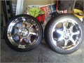 17 chrome wheels 4 on 100 pattern new tires