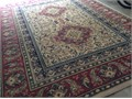 Large area rug oriental look 6 foot 24by 9 14 No flawsPopular  colors andfreshly cleaned