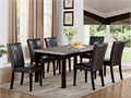 38x64 faux marble dining table with 6 chairs  New wholesale overstock availab