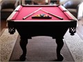 7ft 78x39 Golden West Billiard Mfg pool table cover rack balls 8 sticks 2 miniature bridg