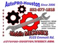 Since 2006 AutoPRO-Houston has been serving Houston Katy Cypress Richmond and Surrounding metropo