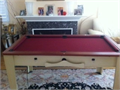 Billiard ping pong chess foosball table all in one with wood trims 25000 818-634-7602