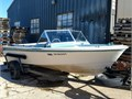 66 Glasspar Flying V 16 with 70hp Mercury 2-stroke outboard motor All maintenance done by Bill