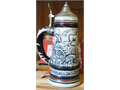 Large selection of beer steins by Budweiser and Avon No boxes those were worn and gone Selling th