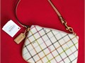 COACH Peyton Tattersall Small Wristlet Purse Wrist Bag Purse Wallet Clutch NWT NEW WITH TAGS and CA